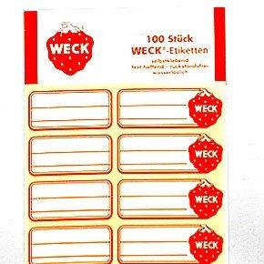 Weck Klebe-Etiketten 100 Stk. wasserlöslich 080812