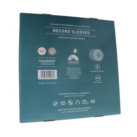 Thakker LP Record sleeves Vinyl Record Inner Covers, antistatic 100 pcs – image 2