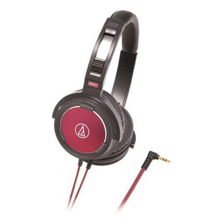 Audio Technica ATH-WS55BRD Solidbass Overhead Headphones - Black / Red
