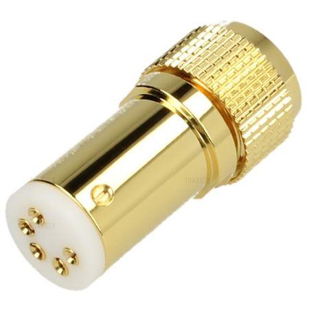 Thakker Tonarmstecker vergoldet gerade (5 pol.) – Bild 1
