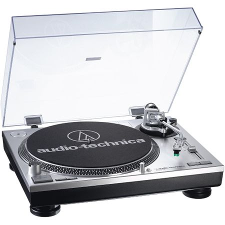 Audio Technica AT-LP 120 USB Plattenspieler Silber