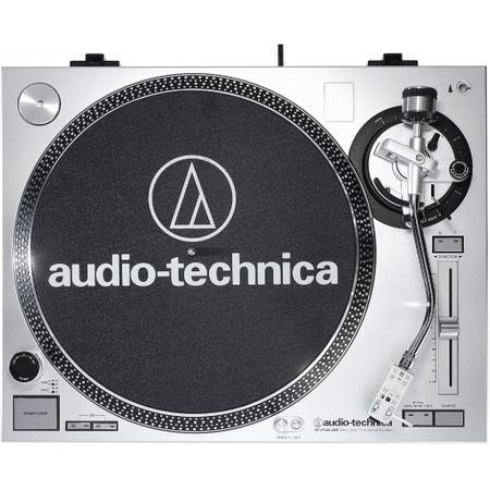 Audio Technica AT-LP 120 USB Plattenspieler Silber – Bild 4