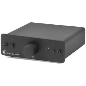 Pro-Ject Phono Box USB V Phono/Line Preamplifier (MM/MC) with A/D-Conversion and USB-out Black 001