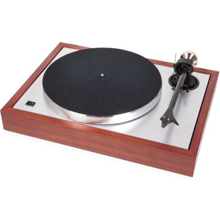 "Pro-Ject The Classic Rosenholz Subchassis Plattenspieler mit 9"" Tonarm Carbon/Alu inkl. 2M Silver"