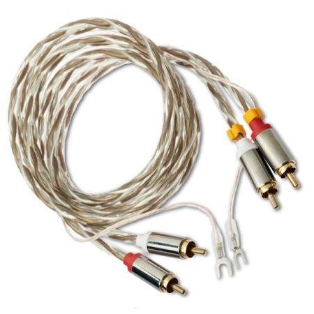 Pro-Ject Phono RCA-E Elektrisch geschirmte NF-Kabel mit Innenleiter aus OFC-Kupfer 123cm