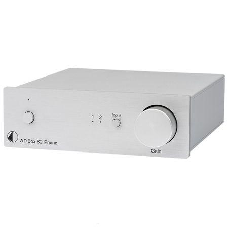 Pro-Ject A/D Box S2 Phono A/D Wandler für Line & Phono mit USB und analogem Ausgang - silber