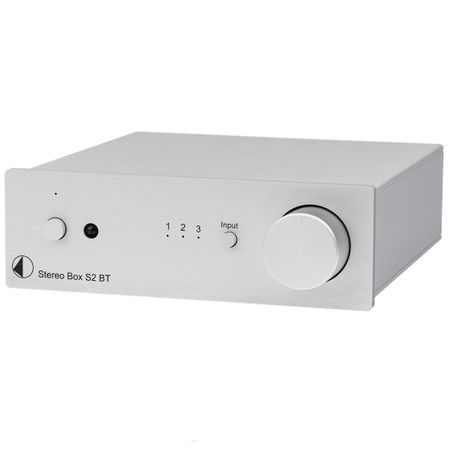 Pro-Ject Stereo Box S2 BT High End Vollverstärker mit Bluetooth Eingang - silber – image 1