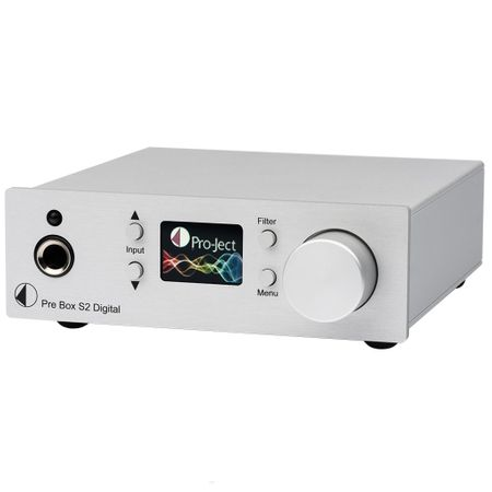Pro-Ject Pre Box S2 Digital Mikro-Vorverstärker mit MQA und DSD512 Support - silber – Bild 1