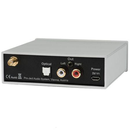 Pro-Ject Bluetooth Box S2 Audiophiler Bluetooth Audioempfänger mit aptX - silber – Bild 2