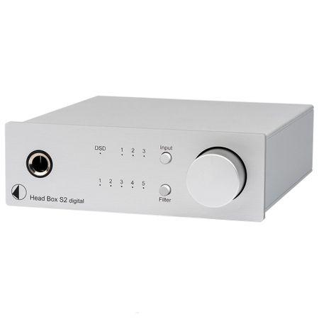 Pro-Ject Head Box S2 Digital Kopfhörerverstärker und DAC mit 32bit und DSD256 Support - silber