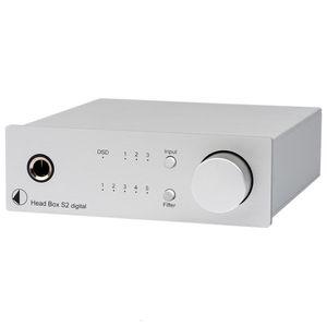 Pro-Ject Head Box S2 Digital Kopfhörerverstärker und DAC mit 32bit und DSD256 Support - silber 001