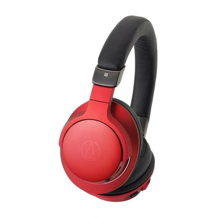 Audio Technica ATH-AR5BT Wireless Over-Ear High-Resolution Headphones - red