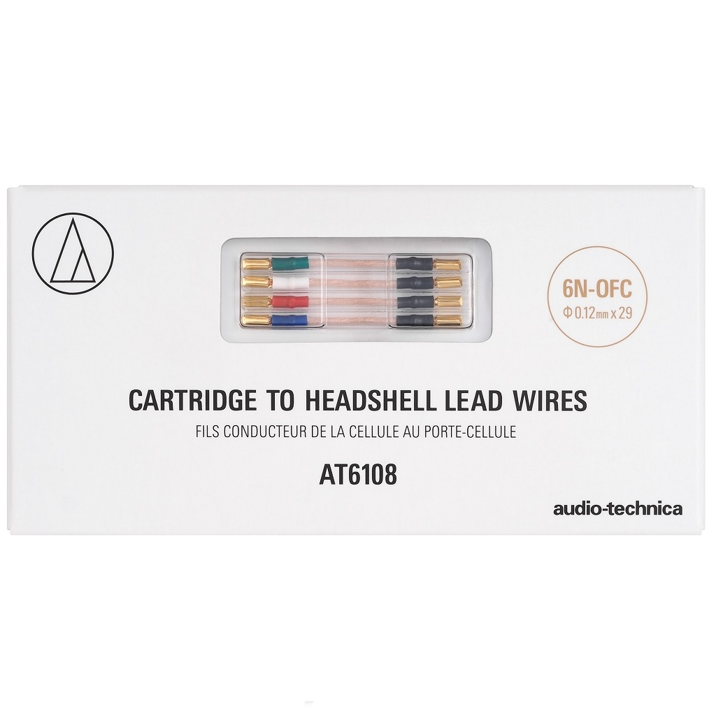 Audio Technica At 6108 Cartridge To Headshell 6n Ofc Lead Wires Phono Wiring Image 2