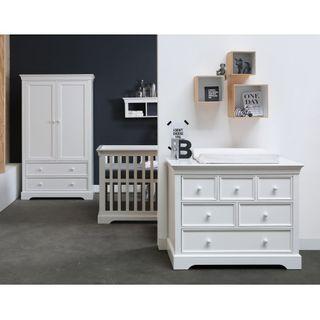 Kidsmill Babyzimmer Marseille weiss lackiert (inkl. Bett 60x120cm) – Bild 1