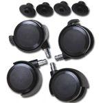 Babybay 100401 Rollensatz für Parkett für das Beistellbett Mini, Midi, Original und Maxi