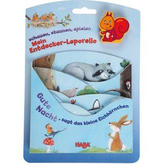 Haba 5426 -  Gute Nacht sagt das kleine Eichhörnchen Holzspiel