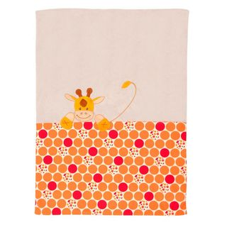 Nattou 186414 Plaid Kuscheldecke 100x75cm Jungle Giraffe orange