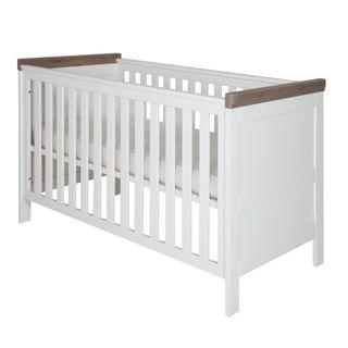 Kidsmill Babyzimmer Savona weiß/grau ohne Kreuz (inkl. Kinderbett 60x120cm) – Bild 2