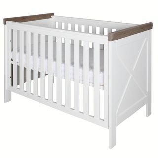 Kidsmill Babyzimmer Savona weiß/grau mit Kreuz (inkl. Umbaubett 70x140cm) – Bild 3