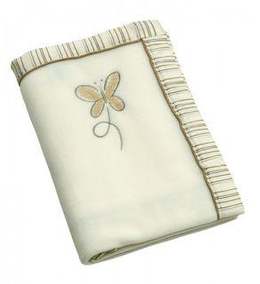 Be Be's Collection 665-28 Fleecedecke Butterfly braun