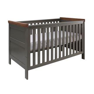 Kidsmill Babyzimmer Earth grau / holz (inkl. Umbaubett 70x140cm) – Bild 2