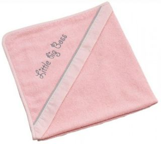 "Be Be's Collection 882-22 Kapuzenbadetuch ""Little big boss"" 80 x 80cm rosa"