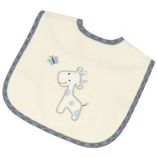 Be Be's Collection 917-12 Klett -Lätzchen 30x40cm Baby Giraffe blau