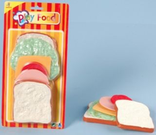 Johntoy 27372 Spielessen Schinken-Käse sandwich, 6 tlg.