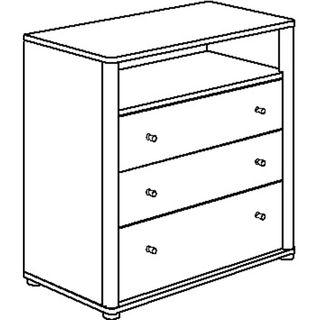 Paidi Fleximo - 1435166 - Wickelkommode, 3 Schubkästen – Bild 1