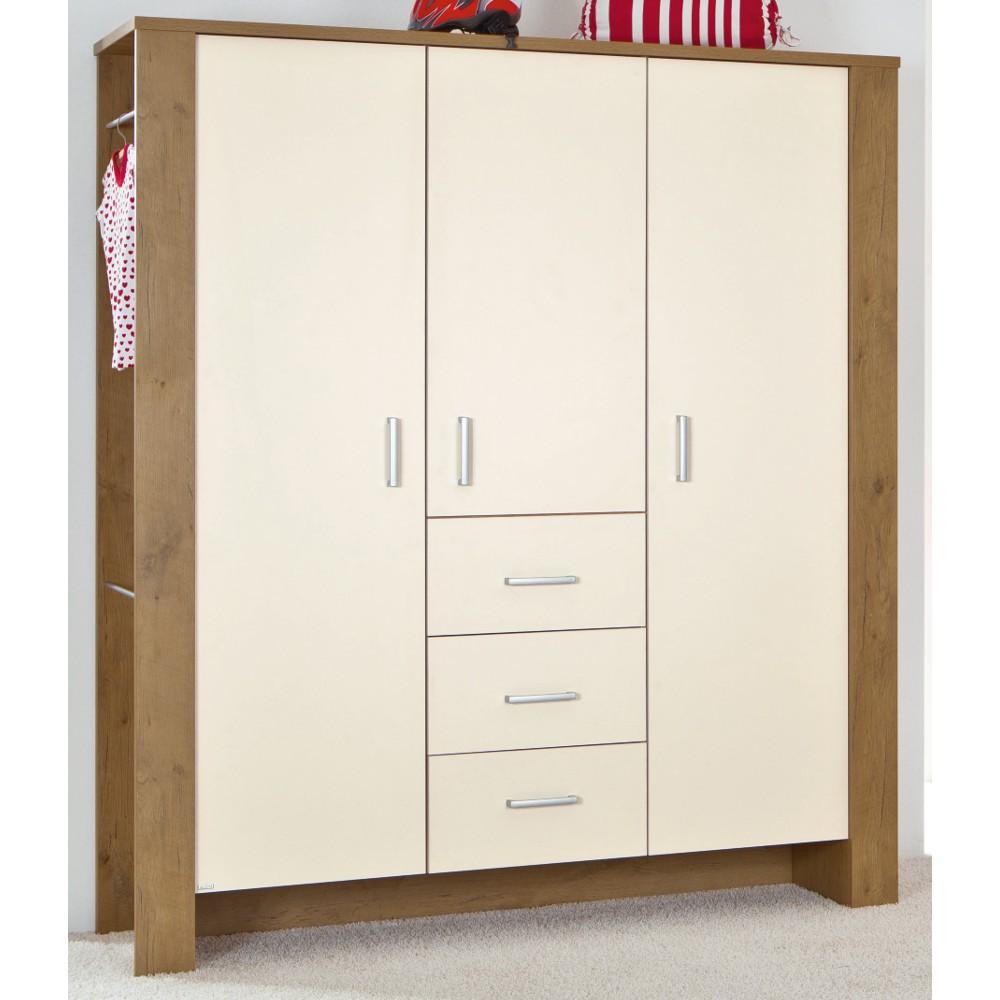paidi henrik 1270348 schrank 3 t rig beige m bel babyzimmer. Black Bedroom Furniture Sets. Home Design Ideas