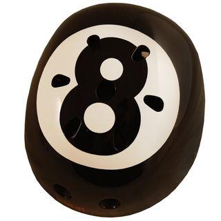 Kiddimoto 2kmh001s Design Sport Helm Eight Ball / Billardkugel Gr. S – Bild 2
