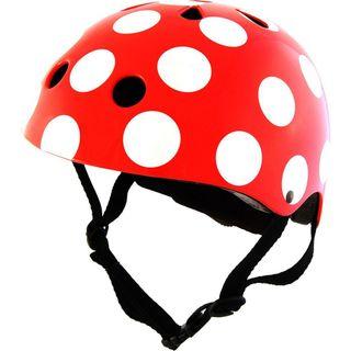 Kiddimoto 2kmh009s Design Sport Helm Red Dotty / Pünktchen rot Gr. S
