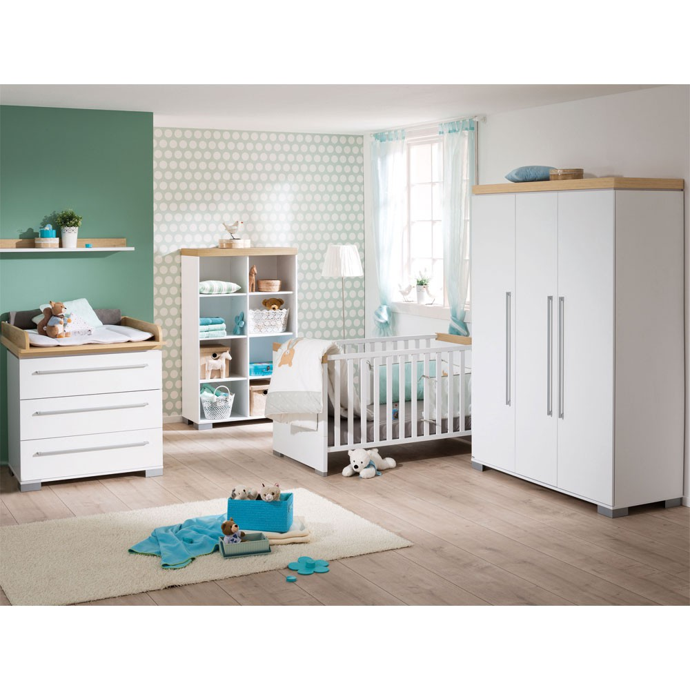 paidi kira babyzimmer mit schrank 3 t rig eiche nebraska. Black Bedroom Furniture Sets. Home Design Ideas