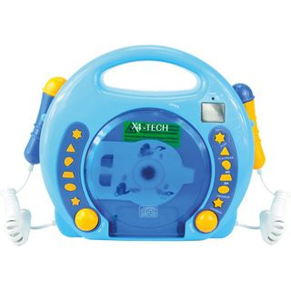 Vedes Karaoke CD Player MP3 2 Mikros boy - blau