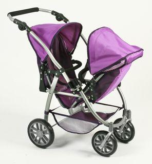 Bayer Chic 2000 689 28 Tandem Buggy Vario Purple Checker – Bild 4