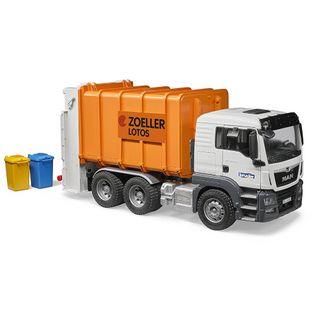 Bruder 03762 MAN TGS Müll-LKW Hecklader orange – Bild 2