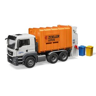 Bruder 03762 MAN TGS Müll-LKW Hecklader orange – Bild 1