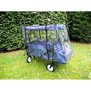 Bieco klappbarer Bollerwagen mit Regenschutz – Bild 2