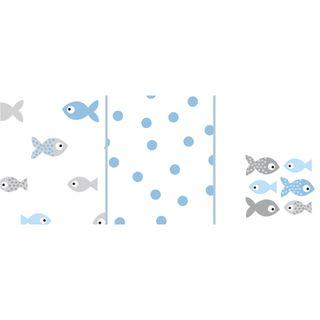 Odenwälder Doppelmull-Windeln fish in the sea 3er-Pack – Bild 2
