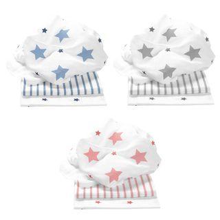 Odenwälder Doppelmull-Windeln stars and stripes 3er-Pack – Bild 1