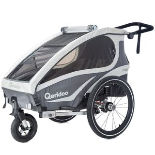Qeridoo Kidgoo 1 Fahrradanhänger, 2018 inkl. Sicherheits-Upgrade – Bild 4