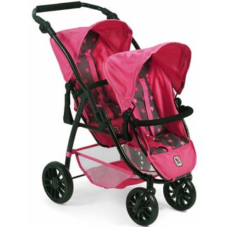Bayer Chic 2000 689-82 Tandem Puppen-Buggy Vario Sternchen Pink