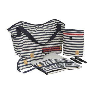 Lässig Casual Twin Bag, Striped Zigzag Navy – Bild 2