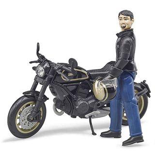 Bruder Scrambler Ducati Cafe Racer mit Fahrer – Bild 1