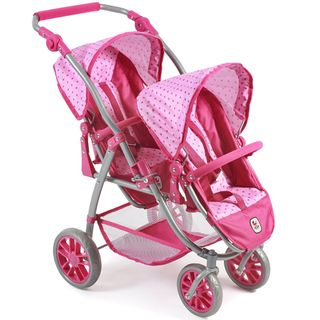 Bayer Chic 2000 689-31 Tandem Puppen-Buggy Vario - Dots Pink