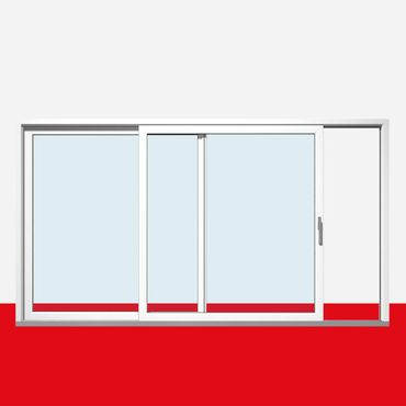 Hebe-Schiebe-Tür nach links öffnend, Breite 5100mm