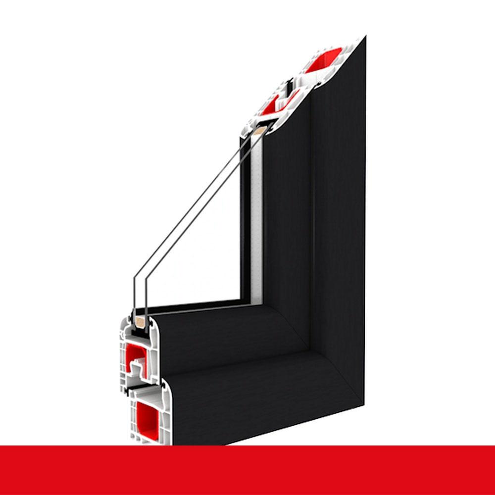 LAGERWARE Fenster Kunststoff 60mm Profil DIN links Kellerfenster wei/ß 2-fach-Verglasung verschiedene Ma/ße BxH: 75x40 cm