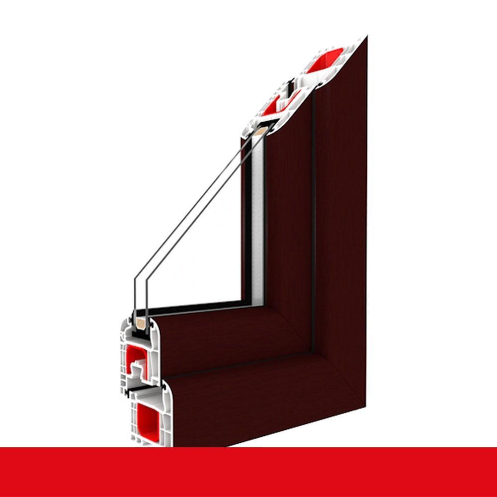 3-fach Verglasung Kellerfenster Garagenfenster braun maron Dreh-Kipp 2-