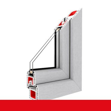 Kunststofffenster Aluminium Gebürstet Dreh Kipp 2-fach 3-fach Verglasung alle Größen ? Bild 1