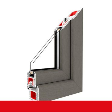Kunststofffenster betongrau Dreh Kipp 2-fach 3-fach Verglasung alle Größen ? Bild 1